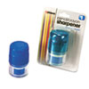 Officemate Officemate Twin Pencil/Crayon Sharpener w/Cap OIC 30220
