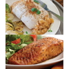 omaha steak or julian: Omaha Steaks - Stuffed Sole with Scallops and Crabmeat & Marinated Salmon Fillets