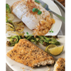 omaaha steaks: Omaha Steaks - Stuffed Sole w/Scallops & Crabmeat and Ancient Grain Rainbow Trout Fillets