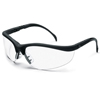 Crews Klondike Black Frame Clear Lens Safety Spectacle ORS 135-KD110