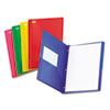Oxford Oxford® Translucent Twin-Pocket Portfolio with Tang Fasteners OXF 99811