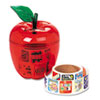 Pacon Pacon® Reward Stickers in Plastic Apple PAC 51480