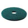 Boardwalk Standard 13-Inch Diameter Heavy-Duty Scrubbing Floor Pads BWK 4013GRE