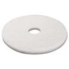 Boardwalk Standard 17-Inch Diameter Polishing Floor Pads BWK 4017WHI