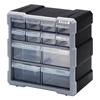 Quantum Storage Systems Plastic Drawer Cabinet QNT PDC-12BK