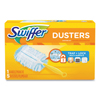"brooms and dusters: Dusters Starter Kit, Dust Lock Fiber, 6"" Handle, Blue/Yellow, 6/Carton"