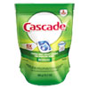 dishwashing detergent and dishwasher detergent: Cascade® 2in1 ActionPacs® Automatic Dishwasher Detergent