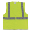 Protective Industrial Products PIP Two-Pocket Zipper Safety Vest PID 1074207