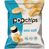 popchips: Potato Chips, Sea Salt Flavor, .8 oz Bag, 24/Carton