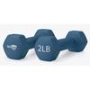 WeCare Neoprene Coated 2 Lbs Dumbbells for Non-Slip Grip PTC WDN100002