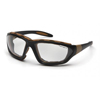 Carhartt Carthage Anti-Fog Clear Lens with Black & Tan Frame PYR CHB410DTPCS