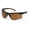 eye protection: Carhartt - Rockwood Anti-Fog Sandstone Bronze Lens with Black Frame