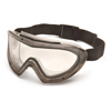 Pyramex Safety Products Capstone® Gray Direct/Indirect Goggle with Clear Anti-Fog Dual Lens PYR G504DT