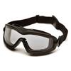 Pyramex Safety Products V2G-XP™ Eyewear Dual Clear Anti-Fog Lens with Black Frame PYRGB6410SDT