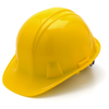 Soft Shell Compact: Pyramex Safety Products - Cap Style 4-Point Ratchet Suspension Hard Hat