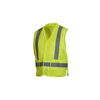 Pyramex Safety Products Safety Vest - Hi-Vis Lime Vest With Reflective Tape - Size Medium PYR RCA2510M