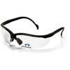 eye protection: Pyramex Safety Products - V2 Readers® Eyewear Clear +2.5 Lens with Black Frame
