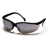 Pyramex Safety Products Venture II® Eyewear Silver Mirror Lens with Black Frame PYRSB1870S