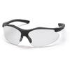Pyramex Safety Products Fortress® Eyewear Clear Lens with Black Frame PYR SB3710D
