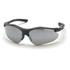 Pyramex Safety Products Fortress® Eyewear Silver Mirror Lens with Black Frame PYR SB3770D