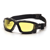 Pyramex Safety Products I-Force™ Eyewear Amber Anti-Fog Lens with Black Temples/Strap PYR SB7030SDT