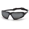 Pyramex Safety Products Highlander™ Eyewear Gray Anti-Fog Lens with Black Frame PYR SBB5020DT