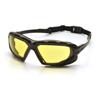 Pyramex Safety Products Highlander XP™ Eyewear Amber Anti-Fog Lens with Black/Gray Frame PYR SBG5030DT