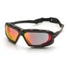 Pyramex Safety Products Highlander XP™ Eyewear Sky Red Mirror Anti-Fog Lens with Black/Gray Frame PYR SBG5055DT