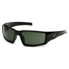 Pyramex Safety Products Pagosa Eyewear Smoke Green Anti-Fog Lens with Black Frame PYR VGSB522T