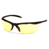 Pyramex Safety Products Zumbro Eyewear Yellow Anti-Fog Lens with Black Frame PYR VGSBR230T