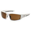 Pyramex Safety Products Pagosa Eyewear Bronze Anti-Fog Lens with White Frame PYR VGSW518T