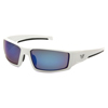 Pyramex Safety Products Pagosa Eyewear Ice Blue Mirror Anti-Fog Lens with White Frame PYR VGSW565T