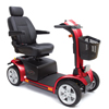 Pride Mobility Pursuit 4-Wheel Personal Mobility Vehicle PRD SC713_RD_STD-BT_FST