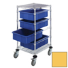Quantum Storage Systems Bin Cart with Dividable Grid Containers QNT BC212434M1-YL-EA