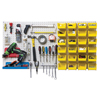 Shelving and Storage: Quantum Storage Systems - Q-Peg Wall System Peg Board