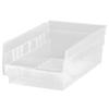 Quantum Storage Systems Clear Economy Shelf Bins QNTQSB102CL