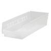 Quantum Storage Systems Clear Economy Shelf Bins QNTQSB108CL