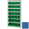 Quantum Storage Systems Wire Shelving Unit with Ultra Bins QNT WR8-239BL-EA