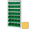 Quantum Storage Systems Wire Shelving Unit with Ultra Bins QNT WR8-239YL-EA