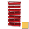 Quantum Storage Systems Wire Shelving Unit with Ultra Bins QNT WR8-250YL-EA