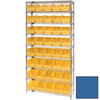 Shelving and Storage: Quantum Storage Systems - Wire Shelving Unit with Store-More Bins