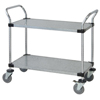 Janitorial Carts, Trucks, and Utility Carts: Quantum Storage Systems - 2 Solid Shelf Mobile Utility Cart