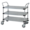 Janitorial Carts, Trucks, and Utility Carts: Quantum Storage Systems - 3 Solid Shelf Mobile Utility Cart