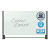 Quartet Quartet® Evoque™ Magnetic Glass Marker Board with Black Aluminum Frame QRT G7442BA