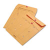 cleaning chemicals, brushes, hand wipers, sponges, squeegees: Quality Park™ Light Brown Kraft String & Button Interoffice Envelope