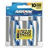 Rayovac High Energy Premium Alkaline Battery, D, 4/Pack RAY 8134TK