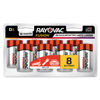 Rayovac Fusion Advanced Alkaline Batteries, D, 8/Pack RAY 8138LTFUSK