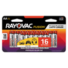Rayovac Fusion Advanced Alkaline Batteries, AA, 16/Pack RAY 81516LTFUSK