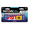 Rayovac High Energy Premium Alkaline Battery, AA, 36/Pack RAY 81536LK