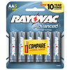 aa batteries: Alkaline High Energy Batteries, AA, 6/Pk